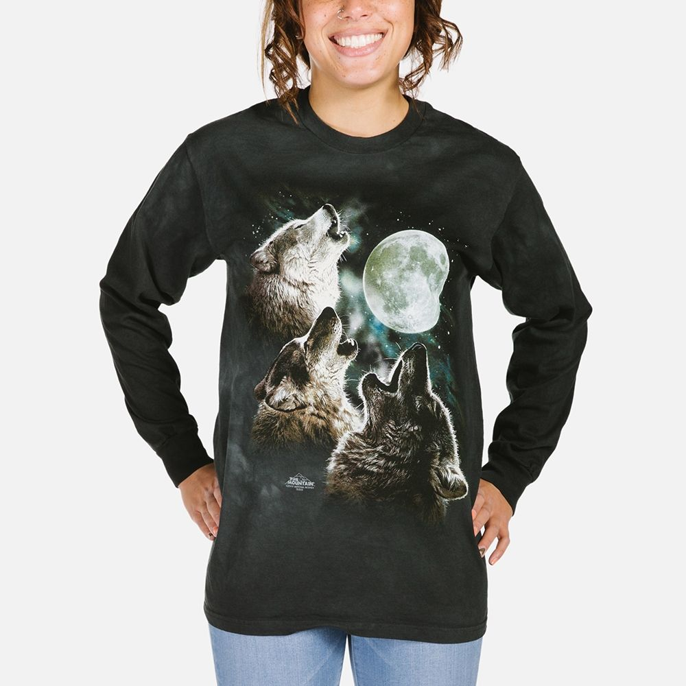 Three Wolf Moon - Adult Long Sleeve T-shirt - The Mountain®