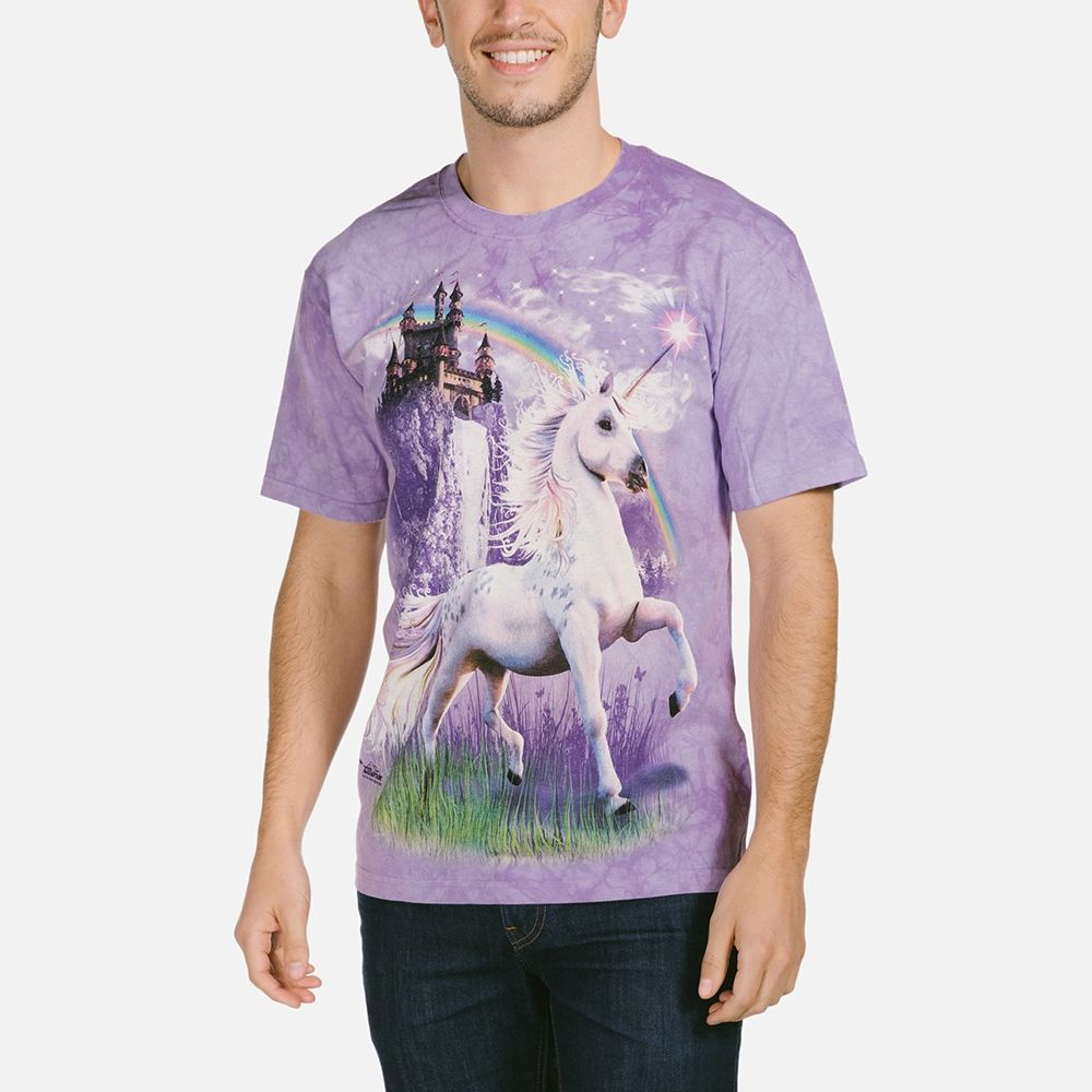 Unicorn Castle - Adult Fantasy T-shirt - The Mountain®
