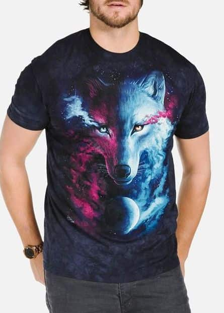 Where Light and Dark Meet - Adult Wolf T-shirt - The Mountain®
