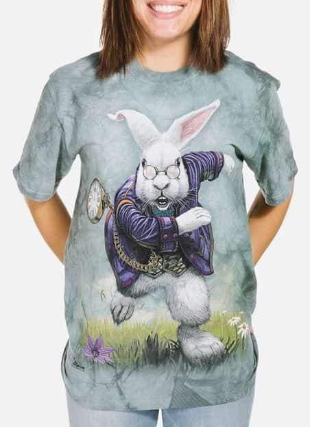 White Rabbit  - Adult Fantasy T-shirt - The Mountain®