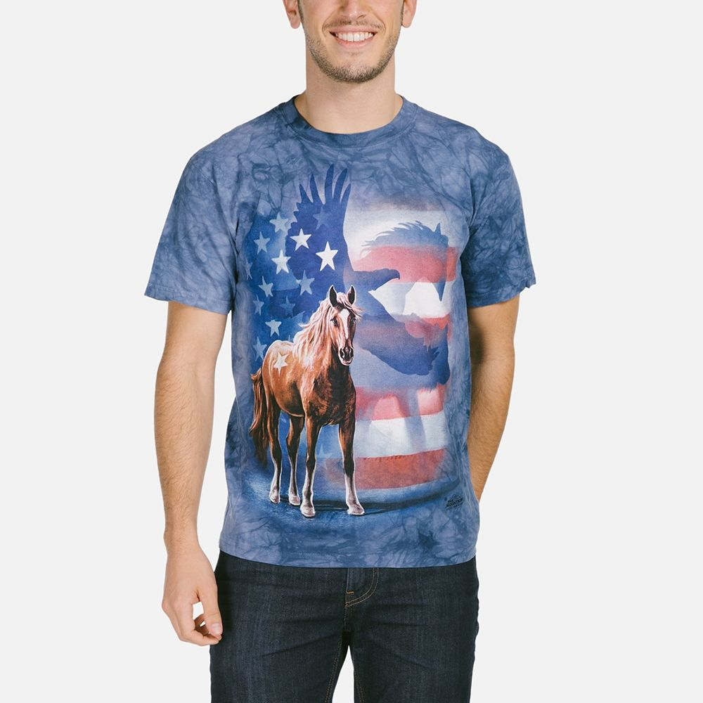 Wild Star Flag - Adult Horse T-shirt - The Mountain®
