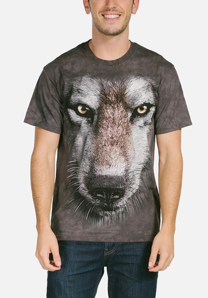 Wolf Face - Adult Big Face™ T-shirt - The Mountain®