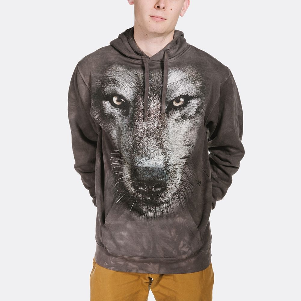 Wolf Face - Adult Hoodie Sweatshirt - The Mountain®