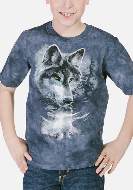 Wolf Reflection - Kids T-shirt - The Mountain®