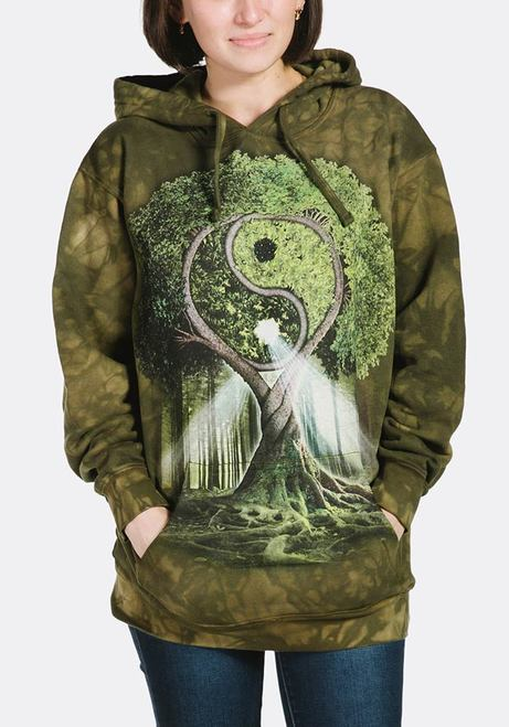 Adult Yin Yang Tree Hoodie Sweatshirt | The Mountain® | Hooded Sweatshirts